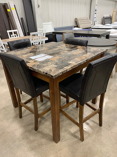 Ashley Theo Counter Height Table & 4 Chairs