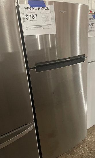 Whirlpool 18 CF Top Freezer Refrigerator SS- 24699