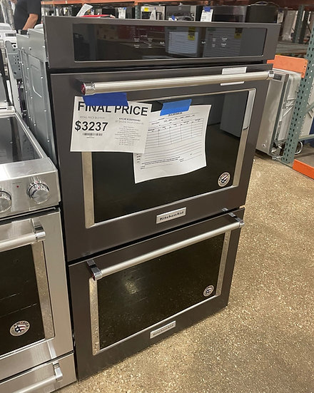 Kitchenaid 10 CF Electric Double Wall Oven Black- 28090