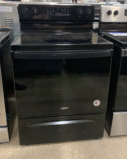 Whirlpool 5.3 CF Smooth Top Convection Electric Range- 46424