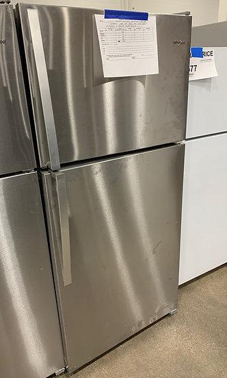 Whirlpool 18.2 CF Top Freezer Refrigerator Mono SS- 96025