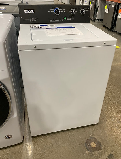 Maytag 3.5 CF Commercial Top Load Washer White- 1027