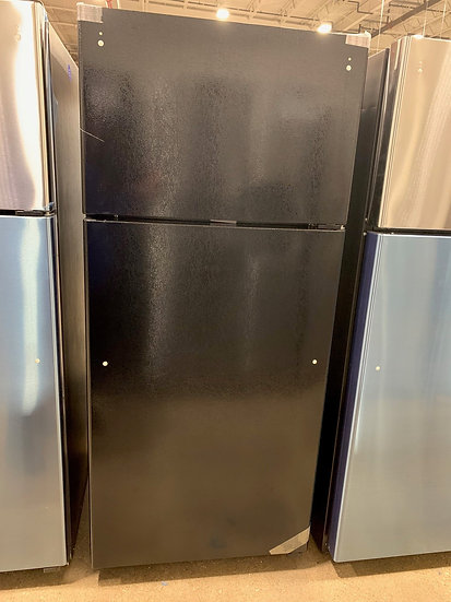 GE 16.6 CF Top Freezer Refrigerator Black- 67559