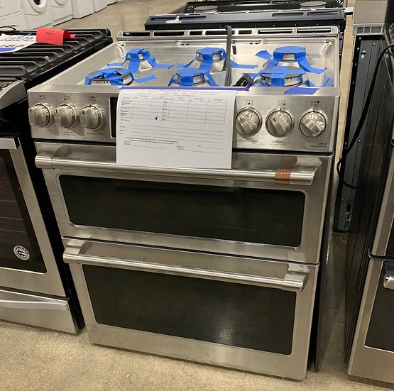 Café 7 CF Slide In Gas Double Oven with Convection SS- 79674
