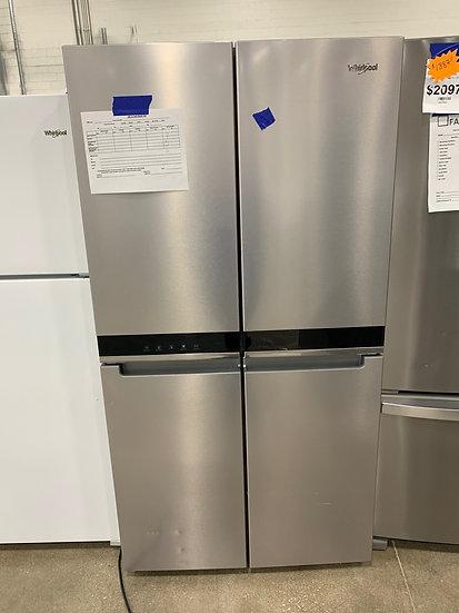 Whirlpool 19.4 CF Counter Depth 4 Door Refrigerator SS- 94855