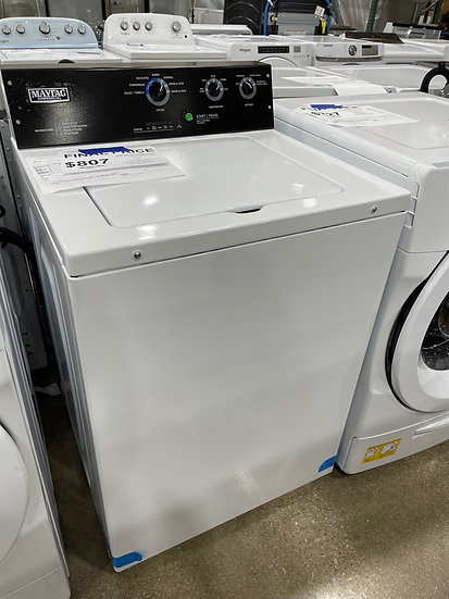 Maytag 3.5 CF Commercial Top Load Washer with Agitator White- 28121