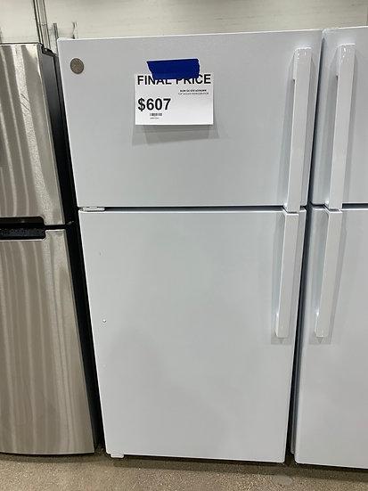 GE 15.6 CF Top Freezer Refrigerator White- 67514