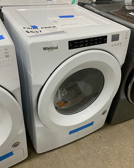 Whirlpool 7.4 CF Front Load Heat Pump Electric Dryer White- 94327