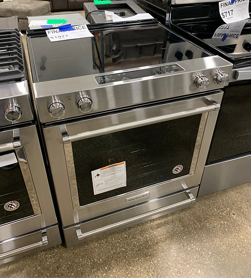 Kitchenaid 6.4 CF Electric Slide In Convection Range SS- 96007