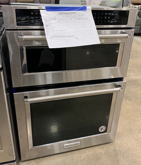 Kitchenaid 5 CF Built In Micro Wall Oven SS- 86604