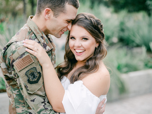 Romantic Military Themed Engagement Shoot at The Pearl in San Antonio