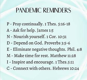 Pandemic reminders