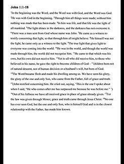 Bible reading - John 1 v1-18