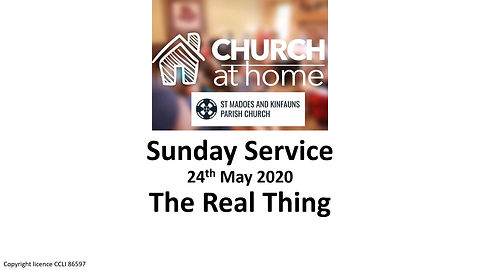 Sunday Service 24th May 20