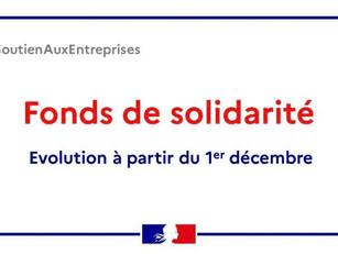 ❗️Évolution du fonds de solidarité au 1er décembre 2020 📣