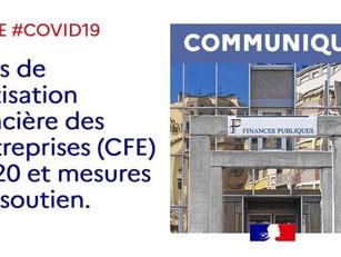 Avis de Cotisation foncière des entreprises (CFE) 2020 et mesures de soutien