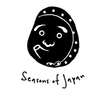 Seasons of Japan Logo with Hyottoko