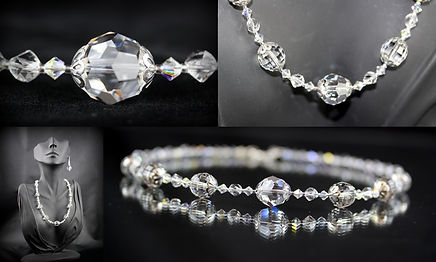 Swarovski Crystal Necklace & Earrings