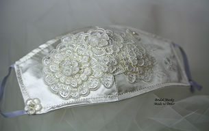 Silk tafetta with guipure lace,crystals & pearls
