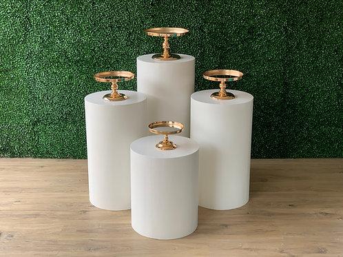4 plinth set