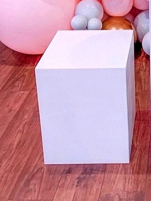 White Square Plinth 50cm