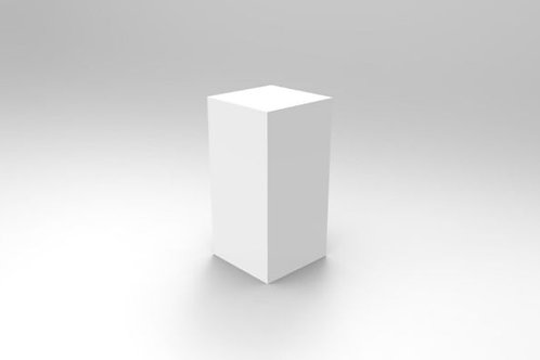 70 x 40 White Square Plinth