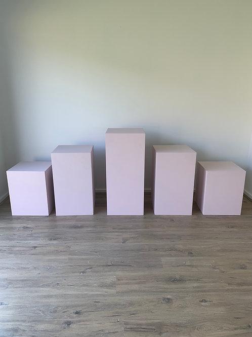 5 Blush Plinths