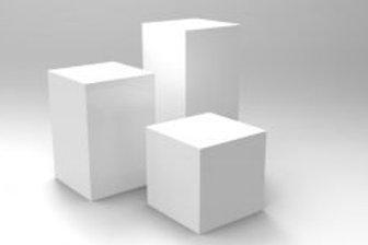 Plinths Trio - Square White