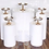 Thumbnail: 5 Piece Gold Mirror Cake Stand Set
