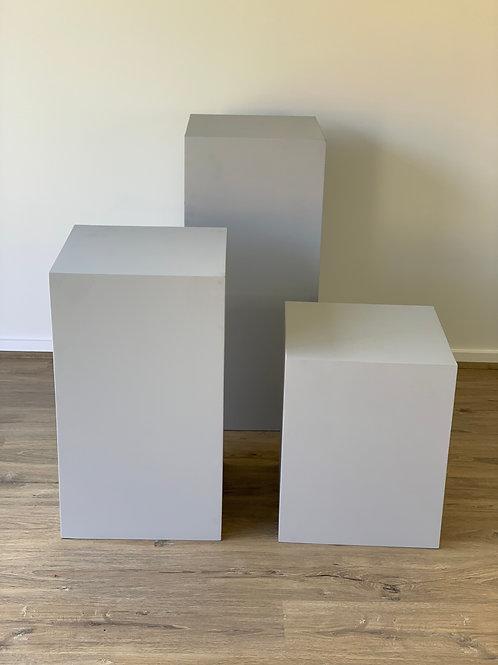 Grey Plinth Trio