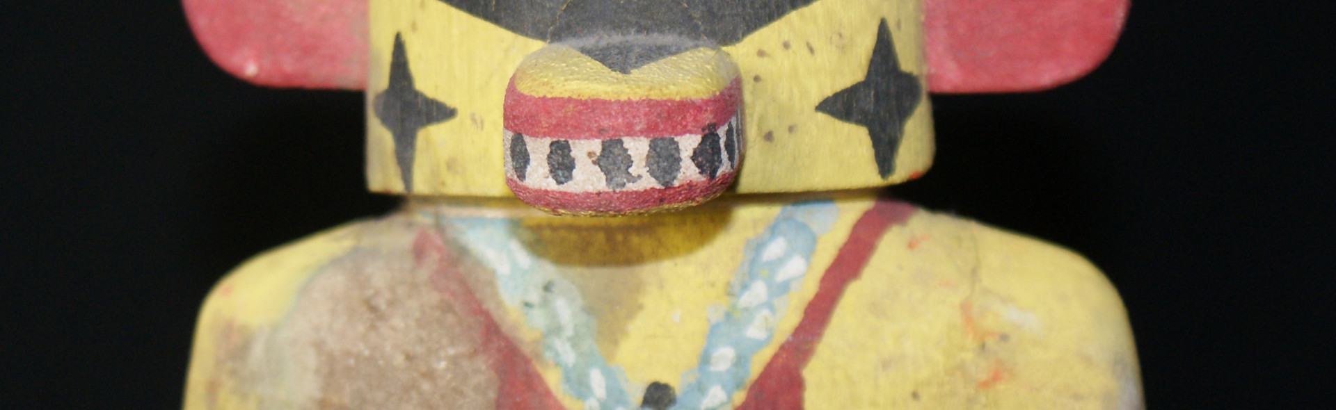 Hopi Polychrome Carved Morningstar Katsina