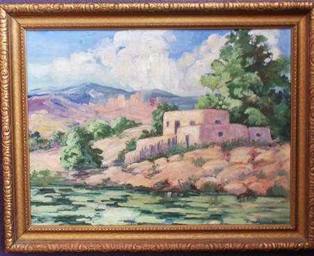 Style of Joseph Imhof (1871-1955) Taos, NM Oil on Board