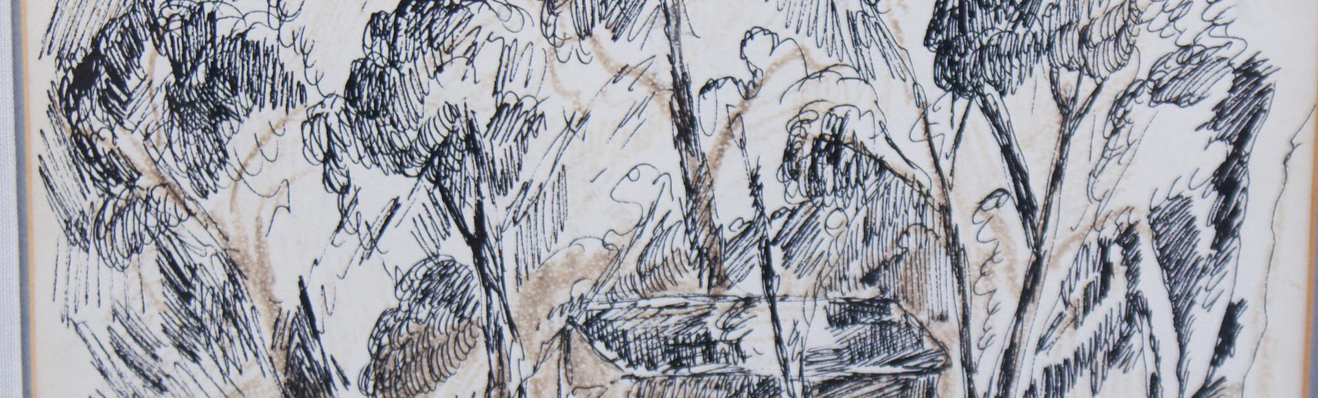 Alfred Morang (1901-1958) Mixed Midea on Paper 1955