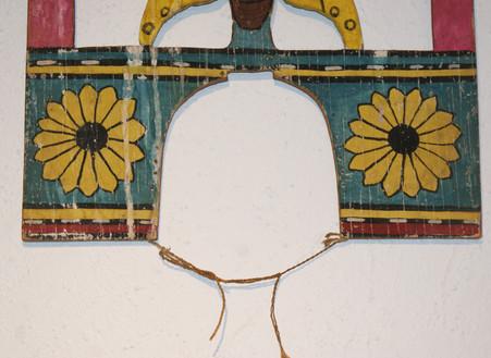 Hopi Butterfly, Sunface & Sunflower Tablita Circa 1940's
