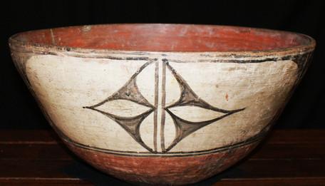 Santo Domingo Pueblo Dough Bowl Circa 1900-1915