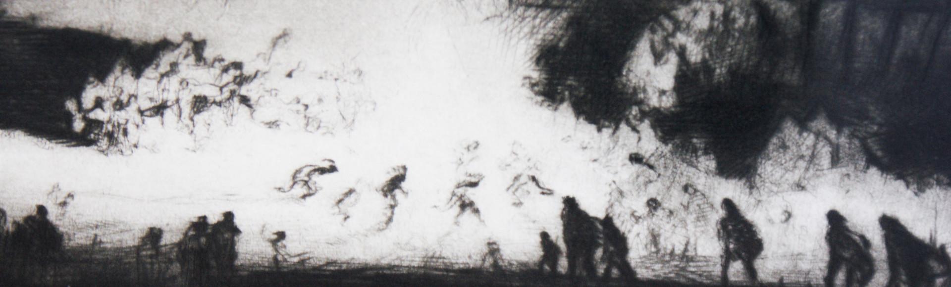 """Pueblo Firelight Dance"" Gene Kloss (1903-1996)"