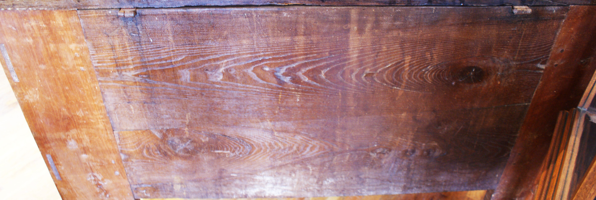 Large Carved Oak Plank Coffer From The Basque Country, Spain Circa Late 18th Century