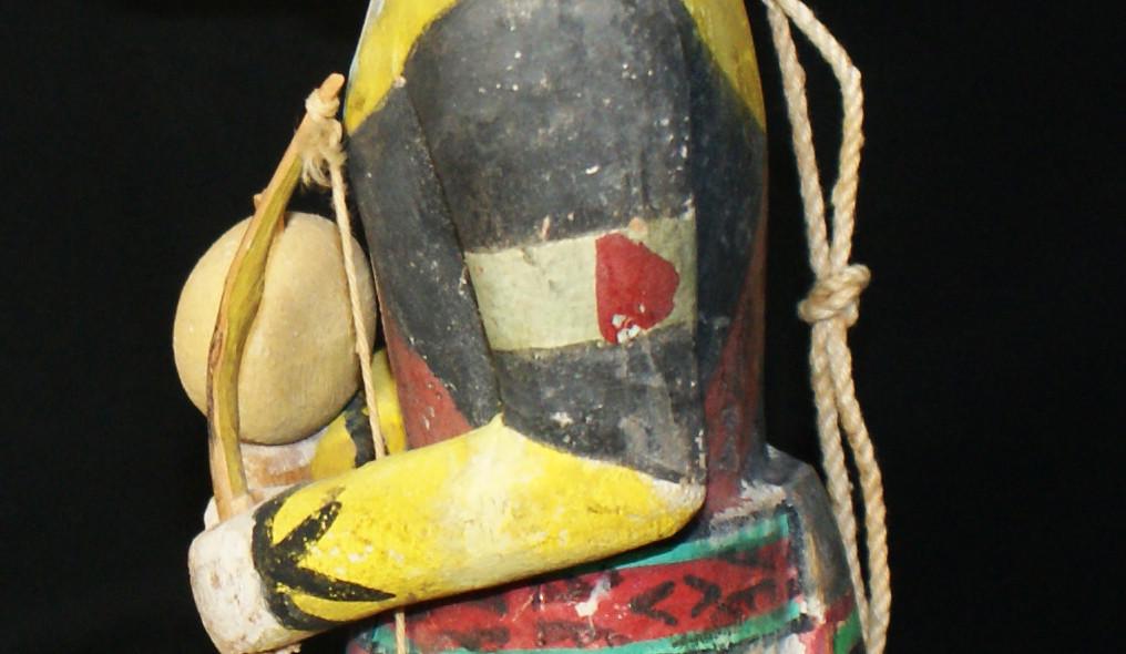 Hopi Pueblo Ho.ote Polychrome Katsina Doll by Jimmy Kewanwytewa (1889-1966)