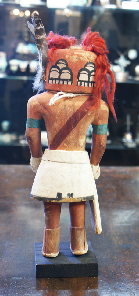 Hopi Pueblo 1940's Polychrome Tasap Katsina Doll