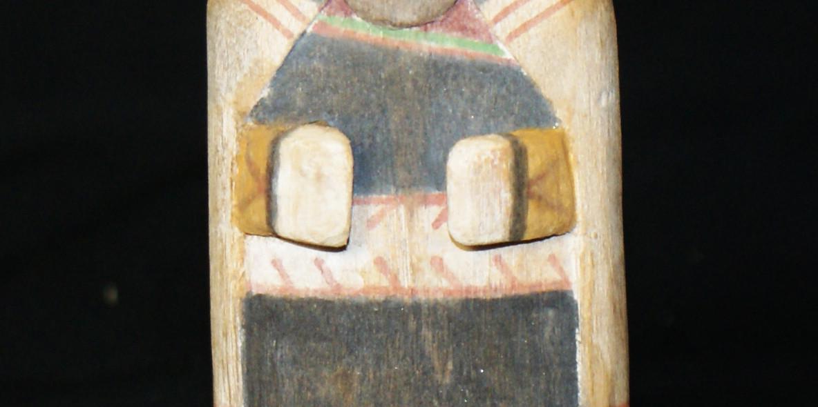 Hopi Pueblo 1930's Polychrome Hemis Katsina-mana Maiden Doll