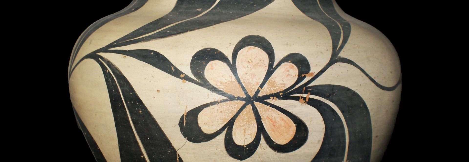 Santo Domingo Pueblo Polychrome Decorated Large Jar Artist Unknown