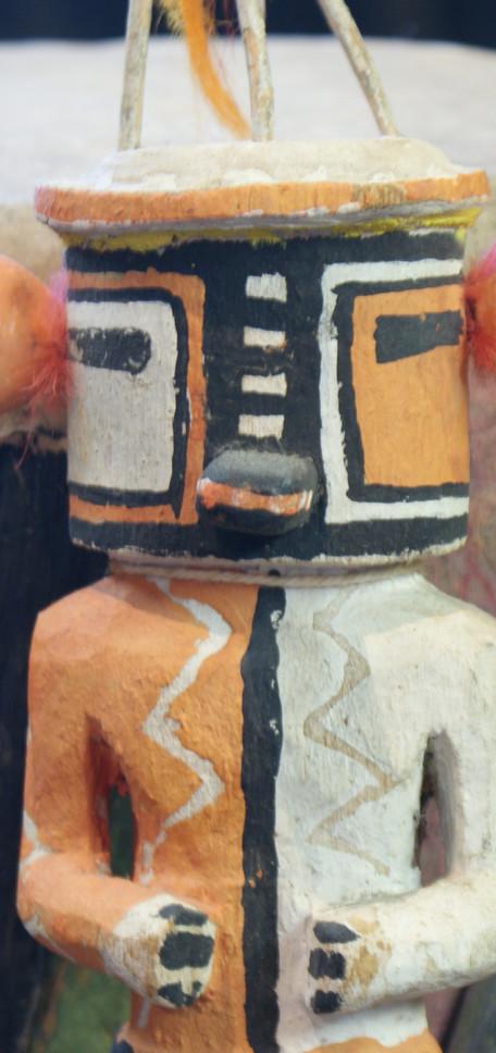Hopi Pueblo 1930's Polychrome Tasap Katsina Doll