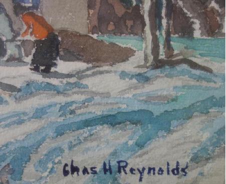 """""""October at San Juan Pueblo"""" Charles Henry Reynolds Taos, NM (1902-1963) Watercolor on Paper"""