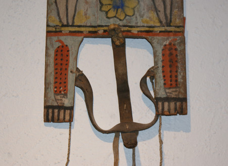 Rare 1920's Hopi Pueblo Tablita by Renowned Katsina Carver Wilson Tawaquaptewa