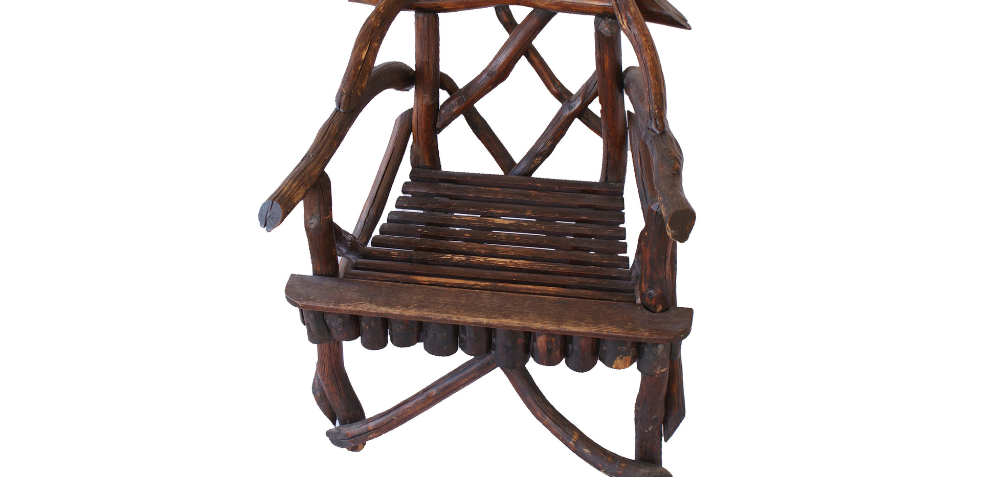 Early 20th Century American Folk Art Twig/Root Rustic Arm Chair
