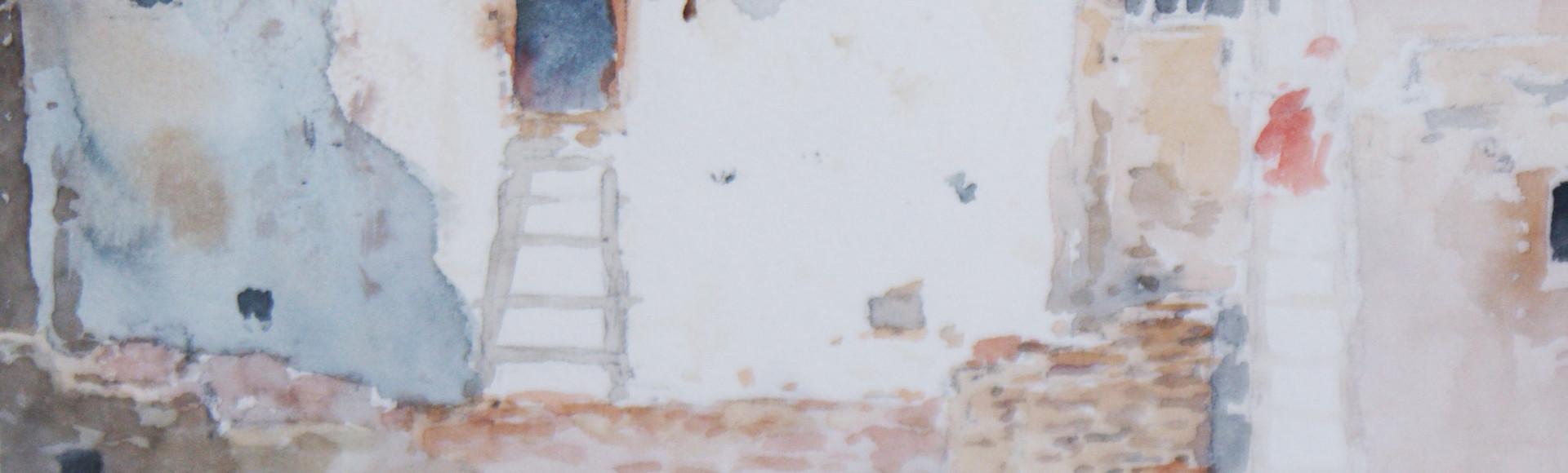 Frank Paul Sauerwein (1871-1910) Taos, NM Adobe Watercolor on Paper Circa 1890's