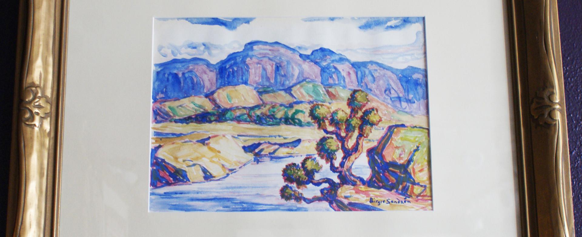 Sven Birger Sandzen (1871-954) Watercolor on Paper