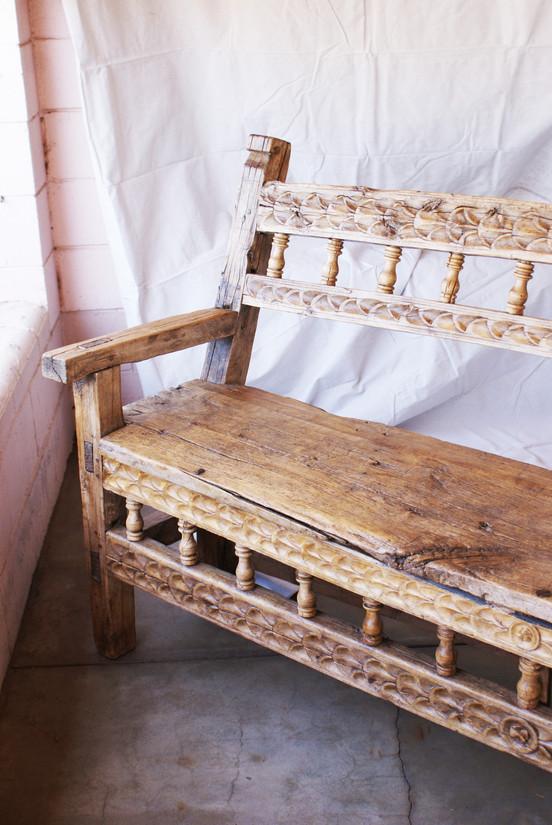 Late 18th Century Spanish Colonial Peruvian Bench.