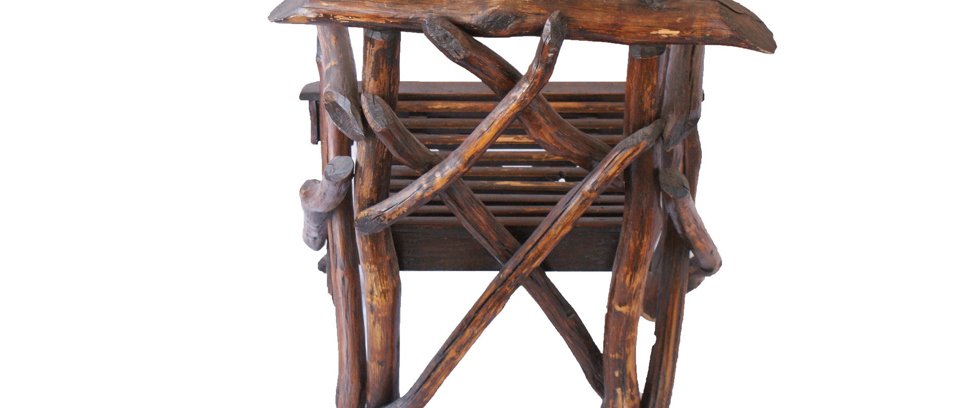 Early 20th Century American Folk Art Twig/Root Rustic Arm Chair