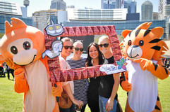 Copy of Mascot with Australian visitors.